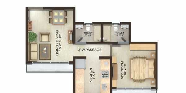 Compact 1 BHK - New Building in Kandivali East